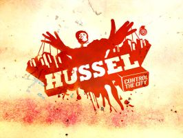 hussel logo wall. by lagartored
