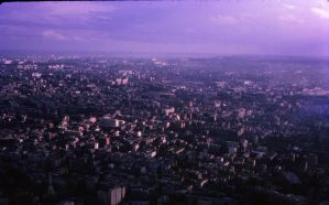 View from Eiffel Tower late 1950s by otherunicorn-stock