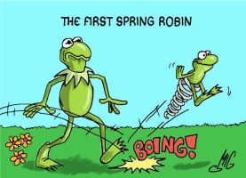 The First Spring Robin by Smigliano