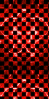 Checkered Blood Red Fractal [Custom Box BG] by darkdissolution