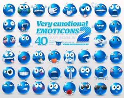 Very emotional emoticons 2 by LazyCrazy