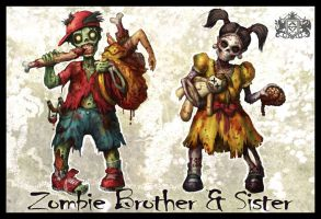 Zombie Brother and Sister by VegasMike