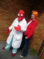 FUTURAMA Cosplay2-Zoidberg+Fry by Eric--Cartman