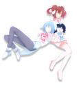 Wingless Angel and Prince Bunny by SilverRose808