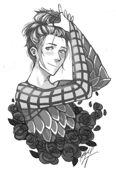 Young Viktor In A Bun by petit-raclette