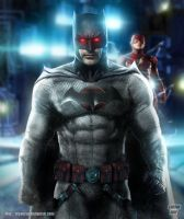 Jeffrey Dean Morgan as  Flashpoint Batman by Bryanzap