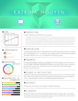 High School Resume by paramour-kn018