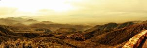 Mountain Sunset Panorama by TheGerm84