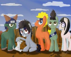 Naruto Ponies: Commission for Ewan by monakaliza