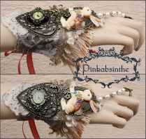 Alice bunny watch cuff by Pinkabsinthe