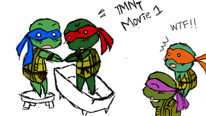 TMNT first movie by Kakuyami