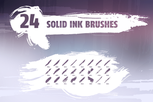 Solid ink brush pack by outlinez