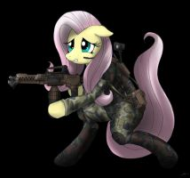 Colonial marine Private Fluttershy by CorruptionSolid