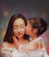 Zhangyi and her daughter by ilovepumpkin2014
