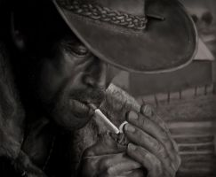 Marlboro Man - Digital Drawing by nortagem