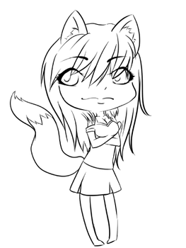 Chibi Fox by Anisette-Star