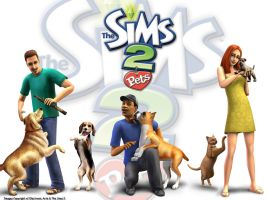 Sims 2 Pets Wallpaper by garnettrules21