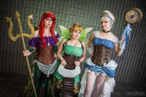 Steampunk Disney Princesses by breathelifeindeeply