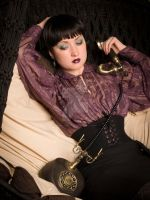 classic waspie by MorielCorsetry
