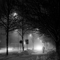 Some winter street at night by JakezDaniel