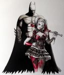 Batman and Harley Quinn Painting by LethalChris