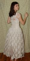 Old White Dress 6 by cyber-stock