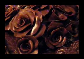 Modeling Chocolate Roses Cake Close-up by CakeUpStudio