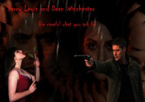 Darcy Lewis and Dean Winchester by TheQueenofLight