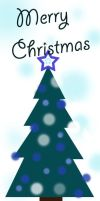 Christmas Card Blue by mintOskitties