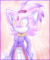 Blaze the Cat by AmyThornRose