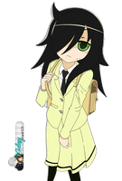 Watamote render HD Tomoko by a-Galaxysweth