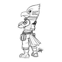 Falco Lombardi Sketch by LuigiL