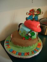 Mario Cake by estranged-illusions
