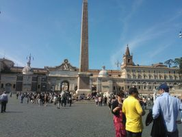 a square in Rome by HeinrichaHimmlerina