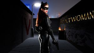Anne Hathaway as CATWOMAN wp by SWFan1977