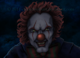 Creepy Clown by EmberWolfsArt