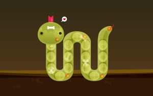 Cute Snake Vector Illustration by santuaric