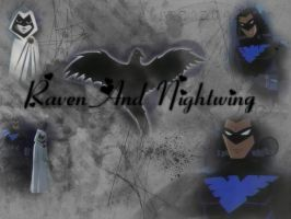 Raven and Nightwing WP by Spider-Cat