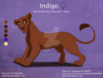 Indigo - Ref Sheet Commission by Nala15