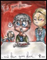 Chibi Hannibal - Feed your fear and fear your food by FuriarossaAndMimma
