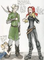 Draco dressed as Legolas by TinyQ