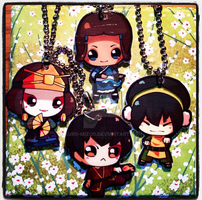 ATLA and TLOK Keychains by Kuro-Mizuo
