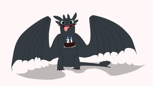 Happy Birthday from Toothless by Super3dcow