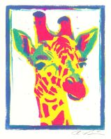Pop Art Giraffe by ghosteater