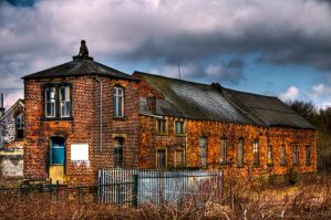 Red Brick and Slate by taffmeister