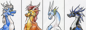 100 Plus Dragons: Set Five by Stepharuka