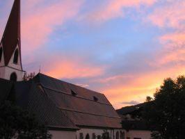 Champery Sunset by SpikedPyro