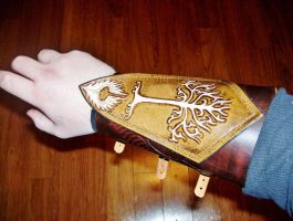 Lord of the Rings Gondor Ranger Bracer -2 by fletchstag