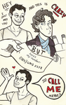 Sherlock Call Me Maybe by taconaco