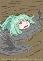 Green Heart Sinking in Quicksand 05 by A-020